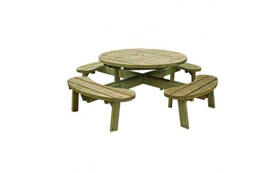 Deluxe Round Picnic Table.