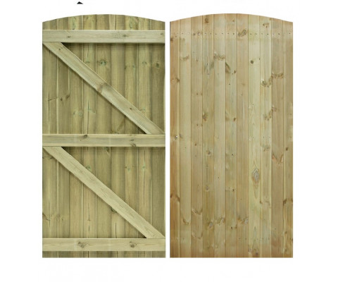New Tongue /& Groove Semi Braced Strong Garden Gate Driveway Fence Wood Timber